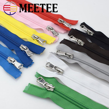 4pcs Meetee 5# Nylon Zippers 40/60/70cm Open-End Zip for Closure Sewing DIY Bags Coat Clothing Garment Accessories Tailor Craft