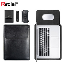 Laptop Bag For MacBook Air Pro Retina 11 12 13 15 PU Leather Case Sleeve Notebook Ultrabook Carry Bag For Macbook Air 13.3inch цена