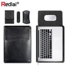 Laptop Bag For MacBook Air Pro Retina 11 12 13 15 PU Leather Case Sleeve Notebook Ultrabook Carry Macbook 13.3inch