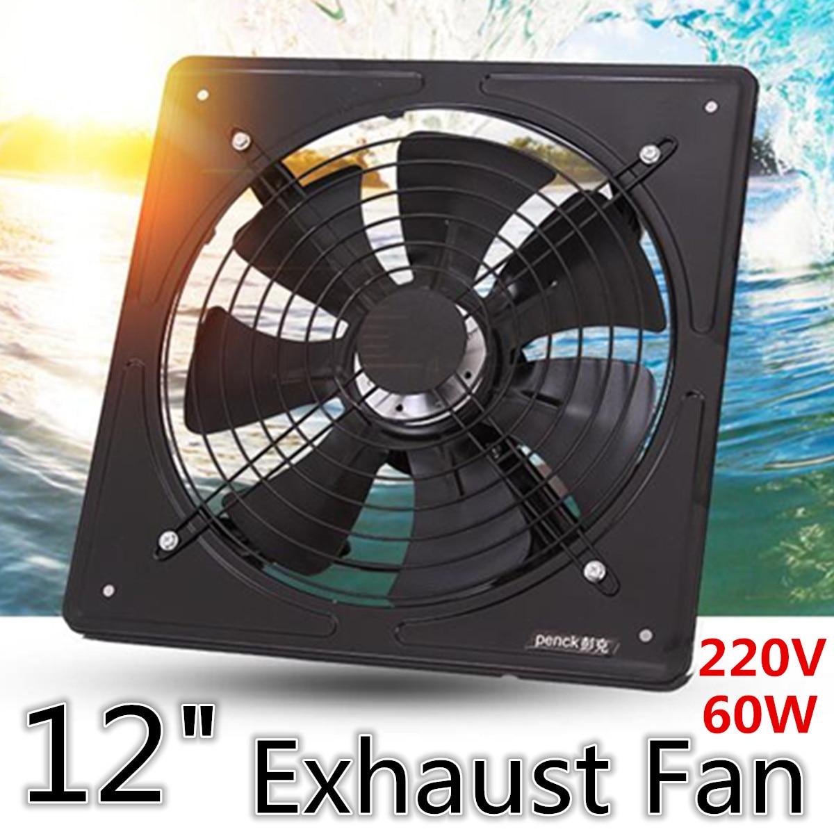 Здесь можно купить  12 inch Metal Exhaust Fan High Speed Air Extractor Window Ventilation Fan for Kitchen Ventilator Axial Industrial Wall Fan 220V  Бытовая техника