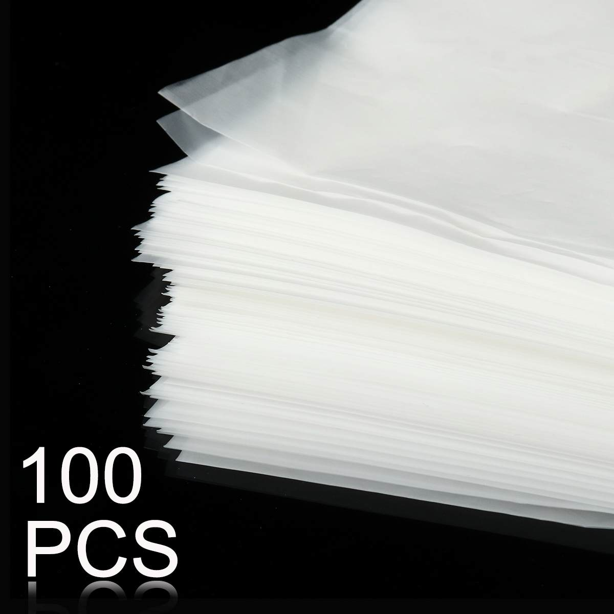 LEORY 100pcs PE Vinyl 12'' LP LD Bags Anti-static Record Sleeves Outer Inner Plastic
