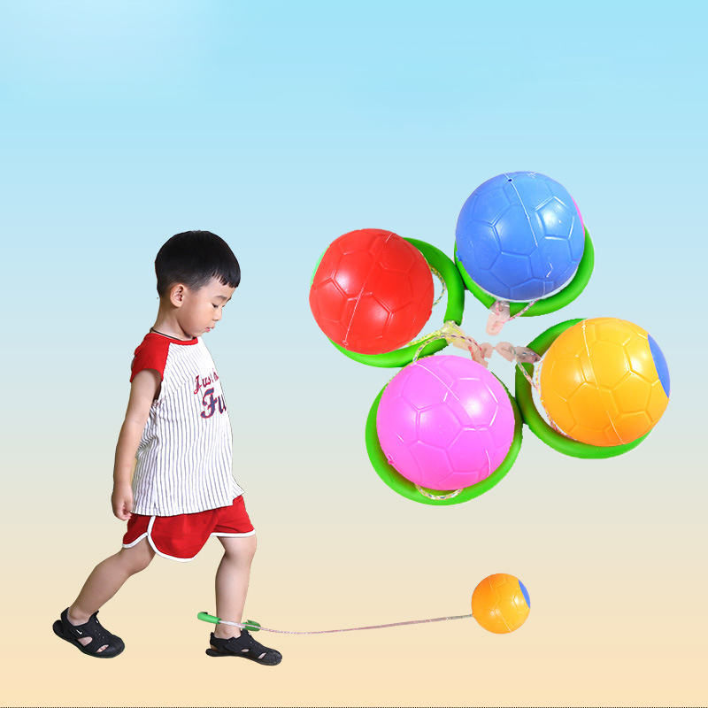 Outdoor Garden Fitness Equipment Adjustable Length Jumping Ball Skipping Rope Swivel Foot Ball Children Toy Jump Ring