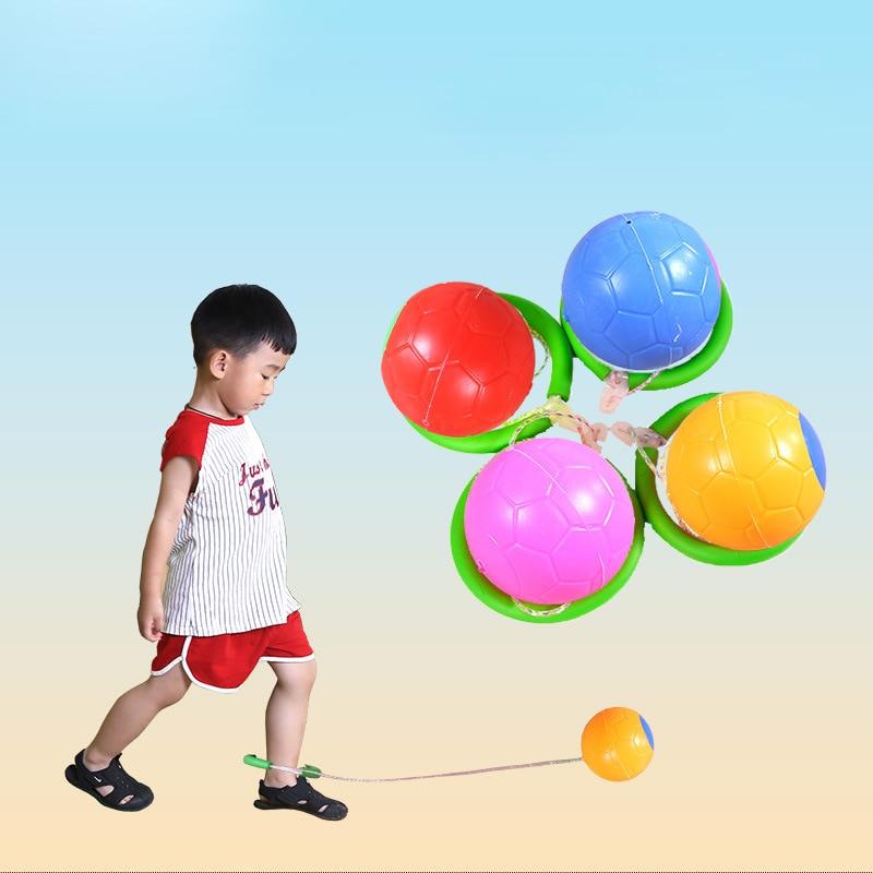 Outdoor Garden Fitness Equipment Adjustable Length Jumping Ball Skipping Rope Swivel Foot Ball Children Toy Jump Ring