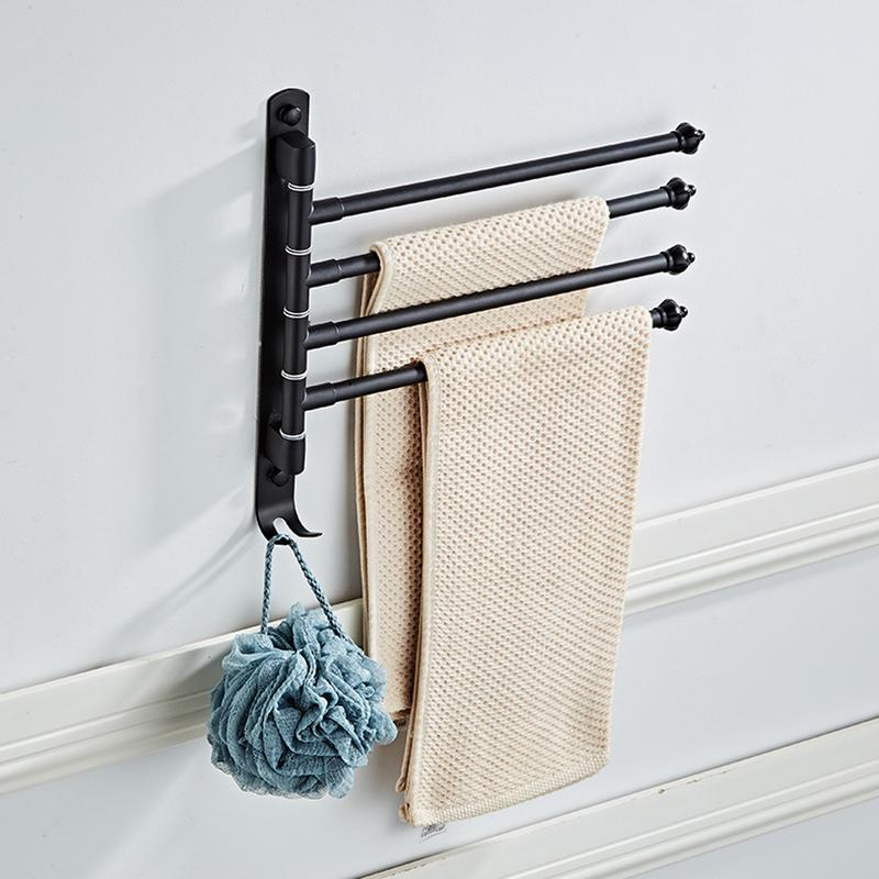 Towel Rack 180 Degree Rotating Stainless Steel Towel Movable Towel Bar Hook 4 Arms Simple Fashion Bathroom Towel BracketTowel Rack 180 Degree Rotating Stainless Steel Towel Movable Towel Bar Hook 4 Arms Simple Fashion Bathroom Towel Bracket