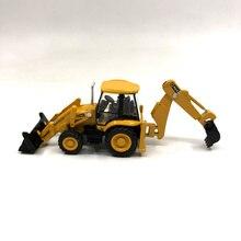 Специальный Литой Сплав 1: 87 Jcb3cx-4 t экскаватор-погрузчик сплав инженерный автомобиль салон девушка Тип детские игрушки