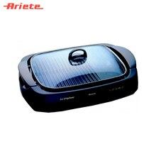 Гриль Ariete 760 La Grigliata черный, мощность 1600 Вт, комбинированная нагревающая поверхность, термостат, прочный корпус из нержавеющей стали