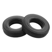 2pcs Trailer Car Rubber Tires RC Car Upgrade Parts for 1:14 Tamiya Tractor Truck RC Climbing Trailer 85mm(China)