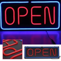 LED Glass Neon Light Tubes Open Sign Shop Store Bar Cafe Beer Business Light 60*30cm Bright Sign Commercial Lighting 100 240V