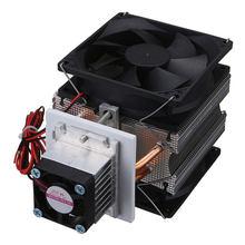 Домашний Термоэлектрический охладитель Пельтье 72 Вт, система охлаждения с полупроводниковым охлаждением, комплект с кулером, готовый набо...