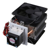 Household Thermoelectric Peltier 72W Cooler Refrigeration Semiconductor Cooling System Kit Cooler Fan Finished Set