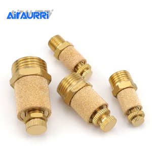 """AIR Pneumatic Brass Adjustable Muffler Exhaust Valve 1/8"""" /1/4"""" /3/8"""" /1/2""""Throttle Silencer For Solenoid Valve Connecto(China)"""