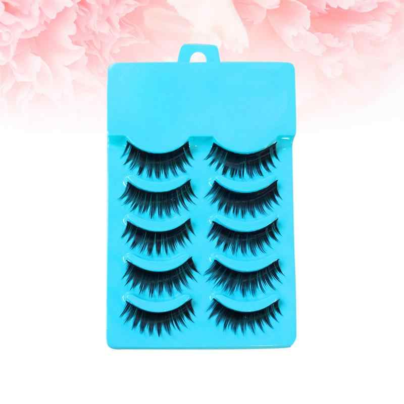 5 Pasang Bulu Mata Palsu Menunjuk Ekor Bulu Mata Palsu Bulu Mata Ekstensi Fashion Alat Make Up