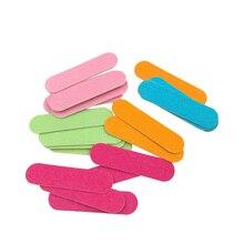 100 Pcs Nail Files Cute Mini Sanding Printing Disposable Nail