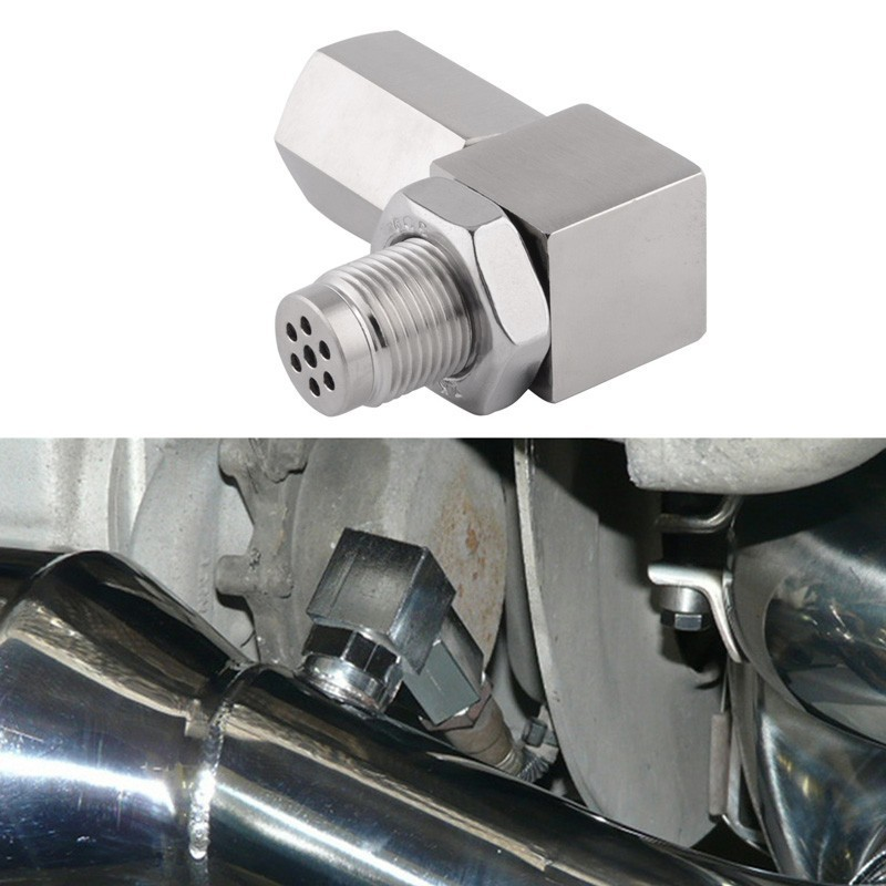 SPEEDWOW Oxygen Sensor Extender Engine Light CEL Check Bung 90 Degree O2 Oxygen Sensor Steel Weld Bung 02 Bunf HHO Adapter