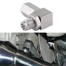 SPEEDWOW – capteur d'oxygène pour moteur, lumière de contrôle, bougie de soudure en acier, 90 degrés O2, adaptateur 02 Bunf HHO
