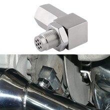 SPEEDWOW oksijen sensörü genişletici motor işık cep kontrol Bung 90 derece O2 oksijen sensörü çelik kaynak Bung 02 Bunf HHO adaptörü
