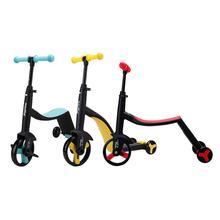 3-в-1 скутер, способный преодолевать Броды для детей регулируемый мульти-Цвет скутер велосипед для nadle