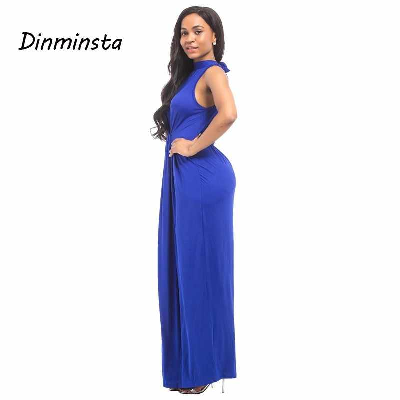e994b2d70d1f3 Dinminsta Women Spring Casual Big Size Maxi Dresses Floor Length Sleeveless  Frocks Female Elegant Bodycon Party Long Dress XXXL