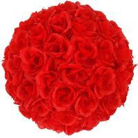 5Pcs 25CM Flower Balls Wedding Decoration Red Flowers Tissue Paper Pompoms Decoration Party Flower Ball