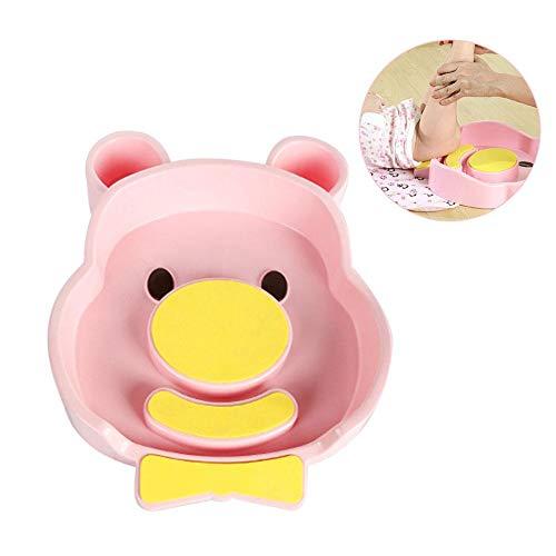 Купить с кэшбэком 1pc Portable baby wash tub Newborn Cute Animal Cartoon ABS Washing Basin Infants Washing Ass Head Bathtub Wholesale #TC
