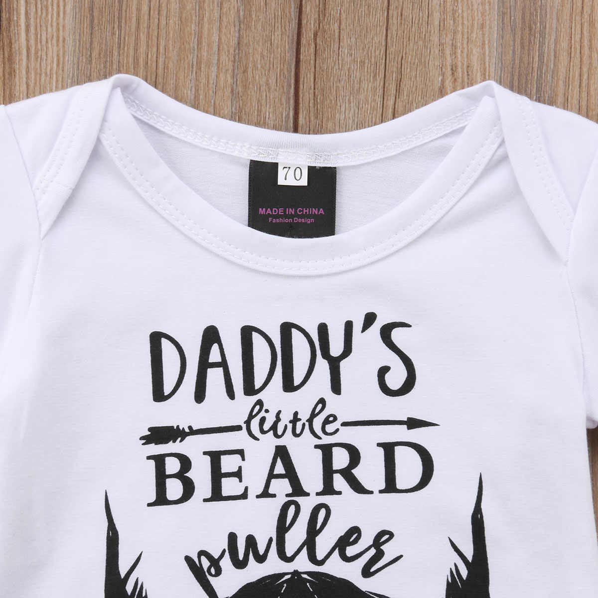 Pudoco/комбинезон с бородой для новорожденных мальчиков и девочек, комбинезон с короткими рукавами, хлопковая Повседневная летняя одежда для малышей