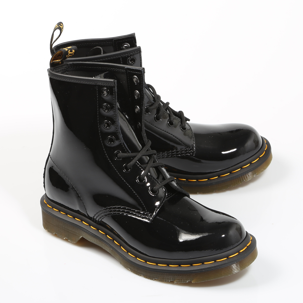 noche haz vestirse  DR MARTENS BOTINES 1460 W BOTÍN CHAROL BLACK 11821 011 Negro Charol Mujer  Black ANKLE BOOTS Woman Shoes Casual Fashion 65196|Ankle Boots| - AliExpress
