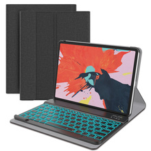 купить For iPad Pro 11 2018 Case Backlight Wireless Bluetooth USA Keyboard Stand Flip PU Leather Tablet Cover For iPad Pro 11 Inch 2018 дешево