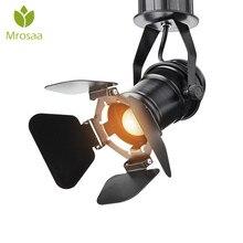 Plafonnier industriel rétro LED, ampoule E27, 110, 220, lampe à LED, pour café, magasin de vêtements, Bar, salon dart, Studio