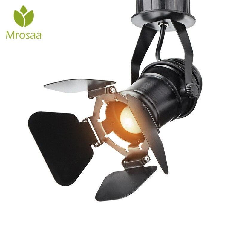 Rétro industriel LED plafonnier 110 V/220 V E27 ampoule intérieur lampe à LED pour café magasin de vêtements Bar Art exposition Studio