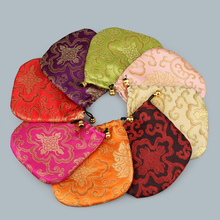Jewelry Pouches Satin Nylon Cord Bag Chinese Silk Brocade bag Organizer Pouch Satin Christmas Wedding Gift Bag Jewelry Bag 10PCs