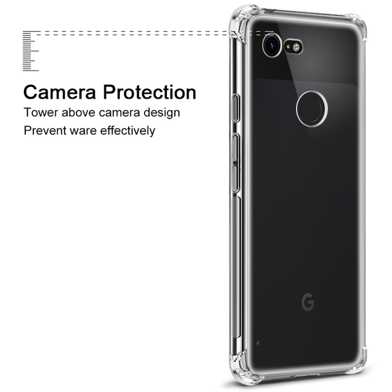 Airbag Shockproof Silicone TPU Skin Phone Cover For Google Pixel 2 2XL 3 3A 3XL 2