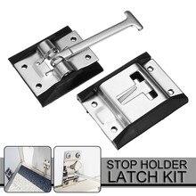 1 комплект 4-металлический стальной дверной замок крюк-RV-Кемпер-лошадь-работа-закрытый-прицеп-дверь-стоп-держатель-защелка-комплект