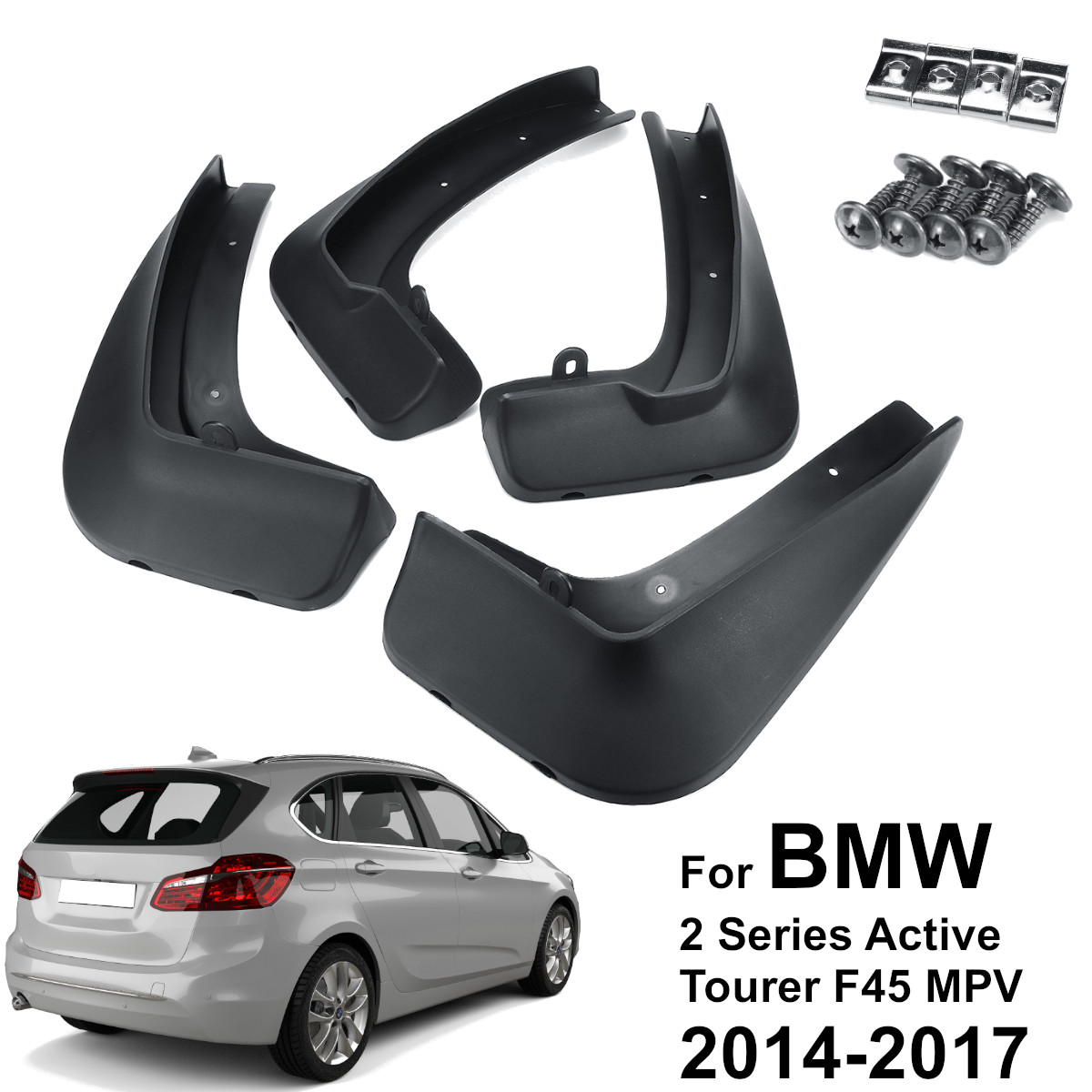 4pcs Car Front Rear Fender Flares Splash Guards Auto Mud Flaps for BMW 2 SERIES F45