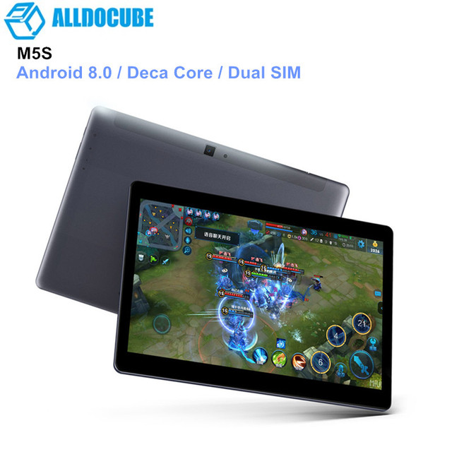 ALLDOCUBE M5S 4G Tablets 10.1'' Deca Core Android 8.0 Phone Call Tablets 3GB+32GB Dual SIM Card 5MP Cam Tablet PC