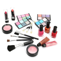 New Girls Pretend Play Beauty Fashion Toy Kit Children Princess Cosmetic Toys Eye Shadow Lipstick Makeup Tool With Aluminum Case