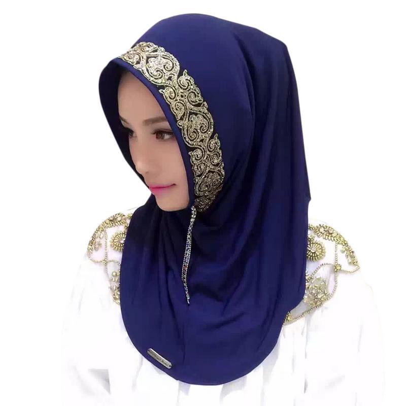 Muslim Headscarf Islamic Casual Hat Turban Summer Shade Wrap Cap Muslim Hijab For Women Shawl Chiffon