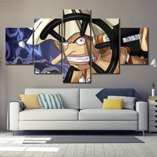 5 Piece Wall Art Anime Poster Picture One Piece Usopp Marksman Poster Wall Painting for Home Modern Decor Canvas Wholesale цена