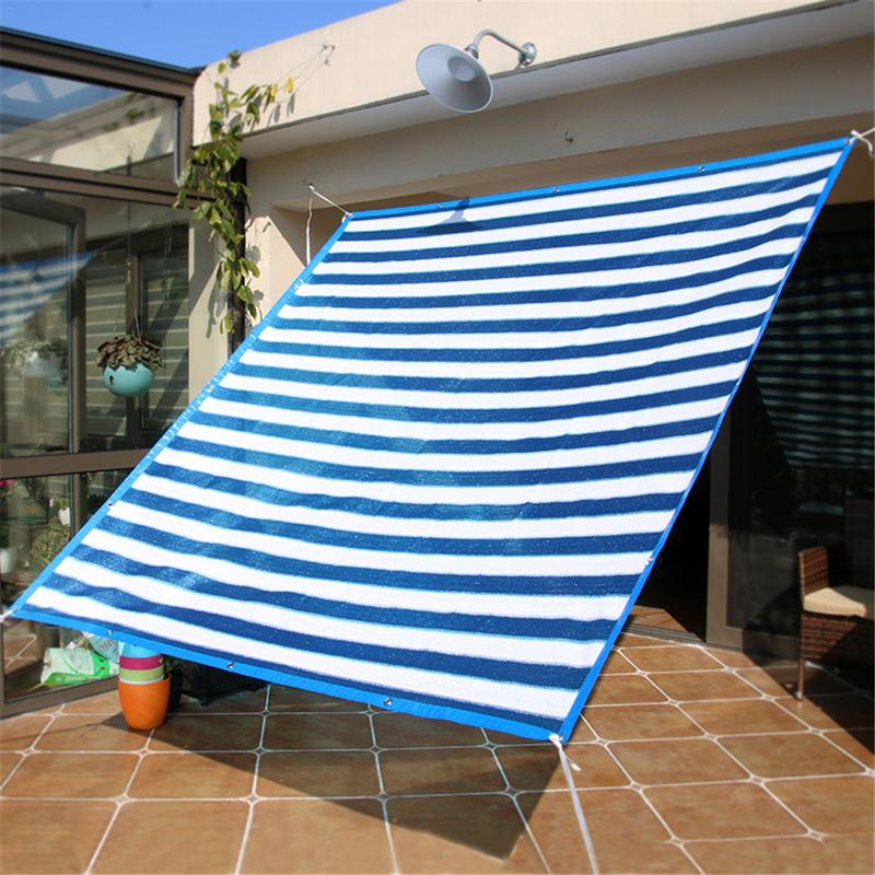 Us 16 93 Off Outdoor Sun Shade Sail Rectangle Uv Block Heavy Duty Cloth Waterproof Wind Proof Sunshade Canopy In Sails
