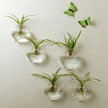 Модная Полезная подвесная стеклянная ваза для цветов Террариум Настенный декор для аквариума