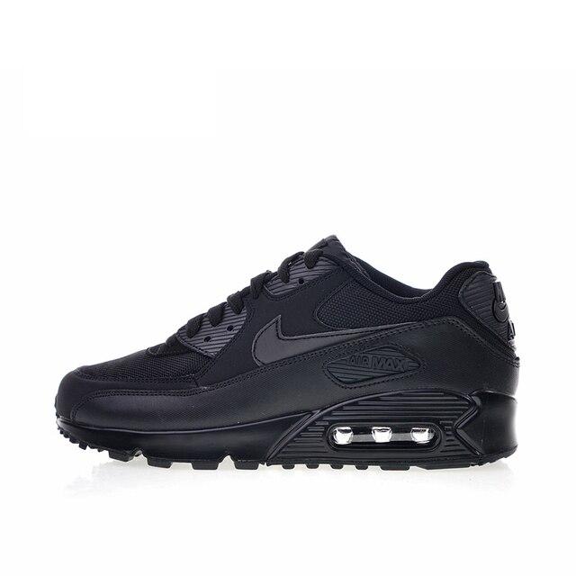 Nueva llegada auténtico NIKE Air Max 90 zapatos esencial cómodo de los hombres deportes al aire libre, zapatillas de deporte 537384-0-9-0.
