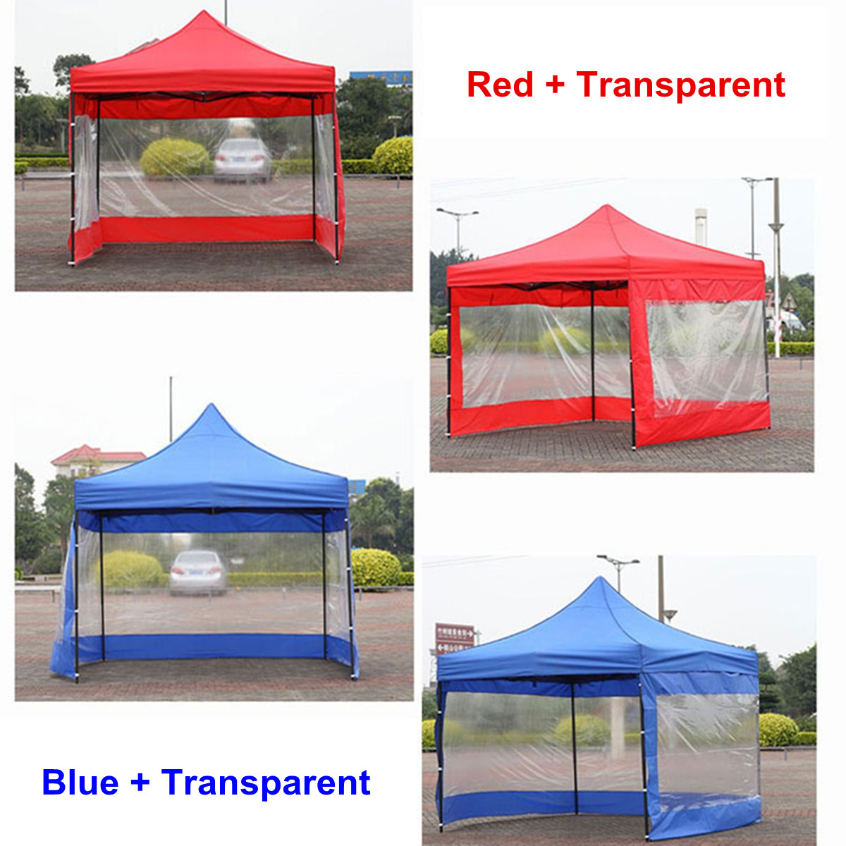2 Color Polyester Canopy Side Wall Carport Garage Enclosure Shelter Tent Party Sun Wall Sunshade Shelter Tarp Sidewall Sunshade