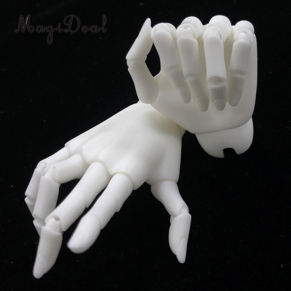 Female AOD 1/3 Doll Jointed Hands For BJD SD Dolls Accessories White Skin mink keer 2 4xl