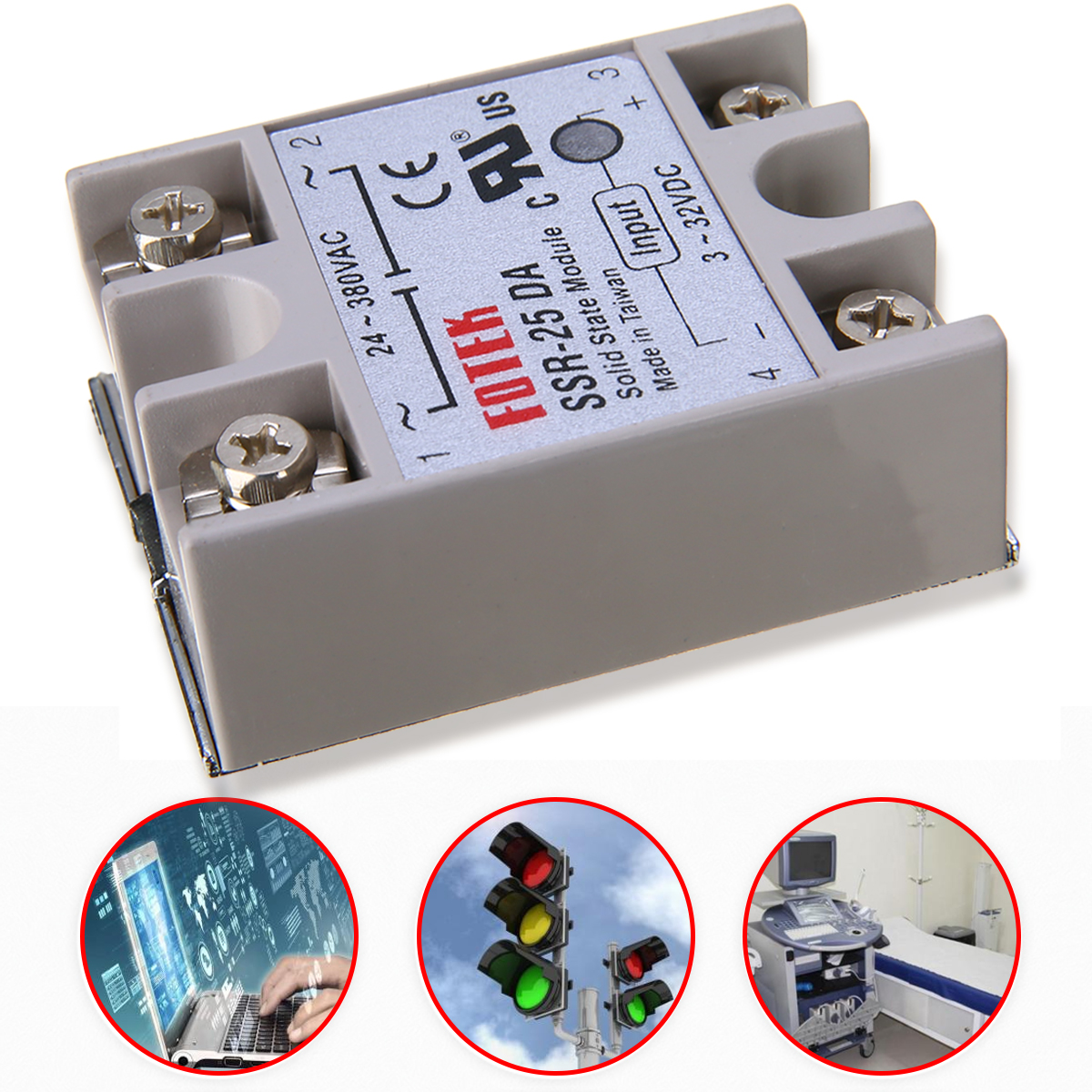 цена на AC 24V-380V Output Solid State Relay 25A SSR-25 DA Mayitr For PID Temperature Controller