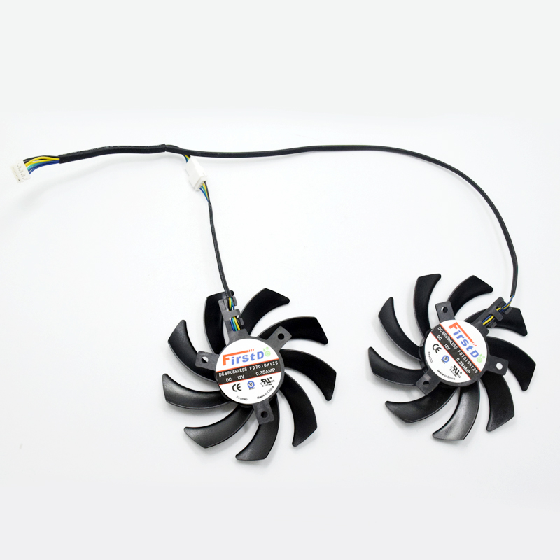 2Pcs/Lot New 85mm FD7010H12S Dual Cooler Fan Replace For HIS R9-280X R9-290 R9-390 HD7950 HD7970 Graphics Card Cooling Fans