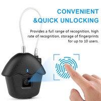 Anti Theft Lock Home Smart Padlock Portable Fingerprint Lock USB Rechargeable Suitcase Door Luggages Keyless Anti Theft Lock