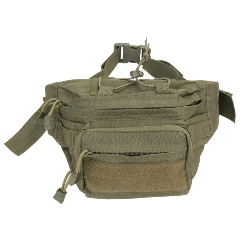 Waterproof Utility Tactical Waist Pack Pouch Military Men Women Outdoor Camping Hiking Hunting Bag With Multiple Pockets