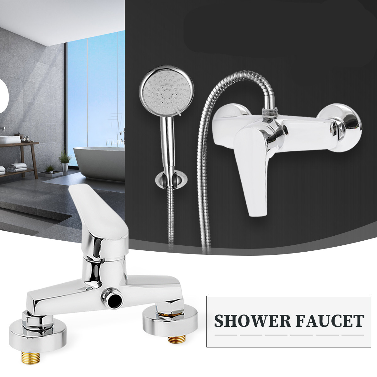 Xueqin G1/2 Copper Thermostatic Shower Faucet Mixer Value Wall Mounted Hot And Cold Taps Water Heater Mixing Valve Bathtub TapXueqin G1/2 Copper Thermostatic Shower Faucet Mixer Value Wall Mounted Hot And Cold Taps Water Heater Mixing Valve Bathtub Tap