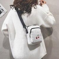 Простая Сумка, модная мини-сумка с рисунком вишни для девочек, забавная сумка-мессенджер для женщин, забавная Милая Холщовая Сумка для девоч...
