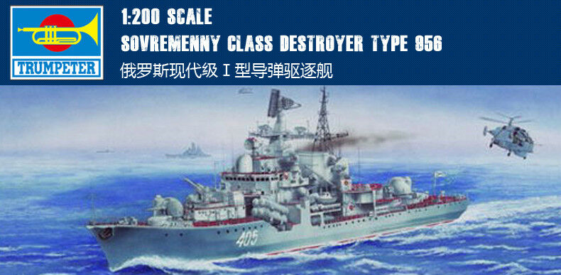 <font><b>Trumpeter</b></font> 03612 1/200 Russia Sovremenny Type I Warship Missile Destroyer Model TH06820-SMT2 image