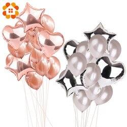 14 piezas 12 pulgadas 18 pulgadas globos Multi aire Feliz cumpleaños fiesta helio globos Decoraciones boda Festival Balon fiesta suministros